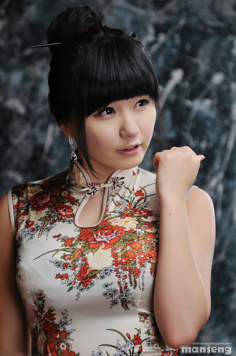 Cute Chinese Maid Cosplay: Chinese Dress