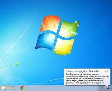 Windows 7 Windows Geçici Profil ile Açıldı Hatası ÇÖZÜMÜ