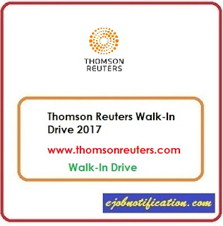 Thomson Reuters Walk-In Drive For Freshers at Bangalore 2017