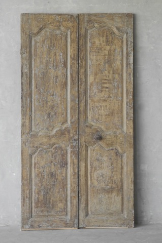 Pair 18th Century Doors from a Bastide near the Provencal Village of Gargas via Chateau Domingue as seen on linenandlavender.net