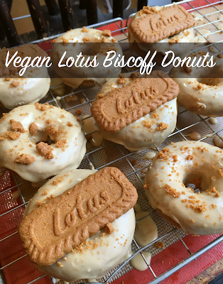 Lotus Biscoff Donuts - Vegan!