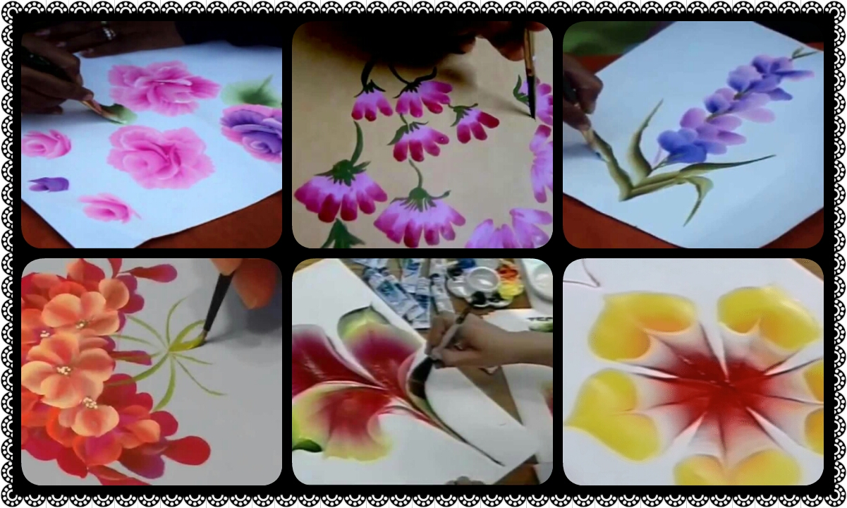 Learn Different Types Of Flowers From One Stroke Painting