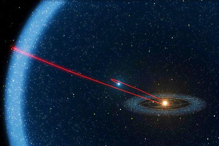Güneş sistemine yaklaşan bir kara delik evvela sistemi saran OORT Bulutu'nu yok ederdi.