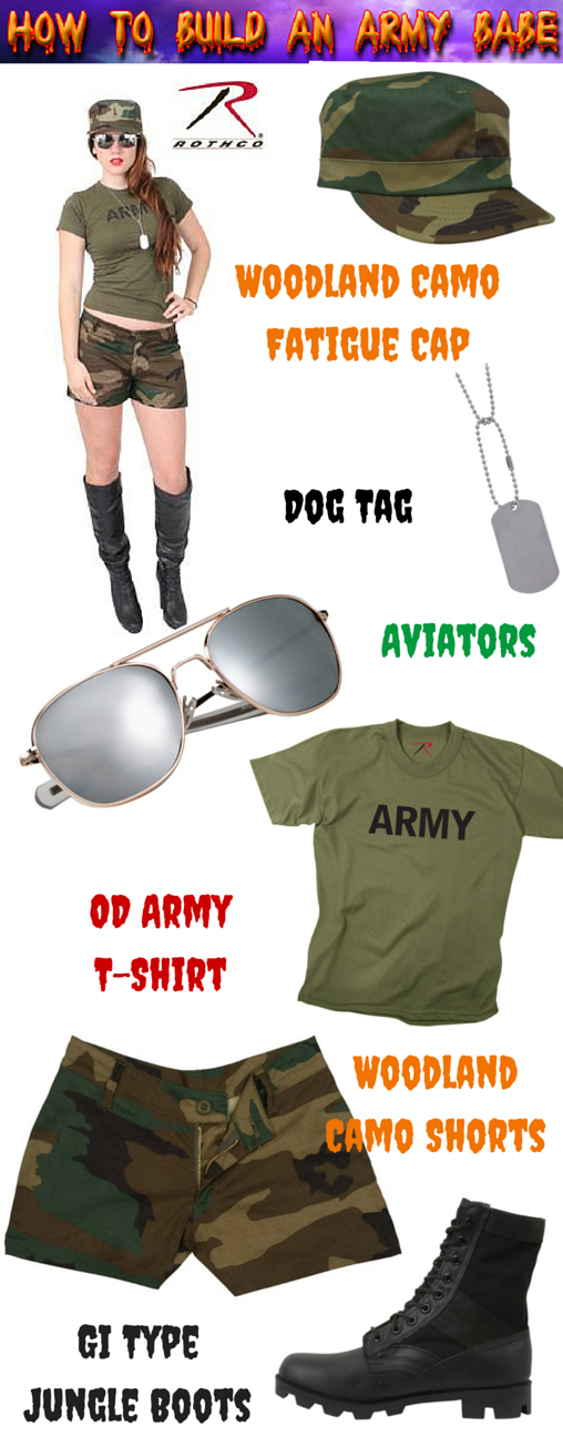 army babe, halloween costume