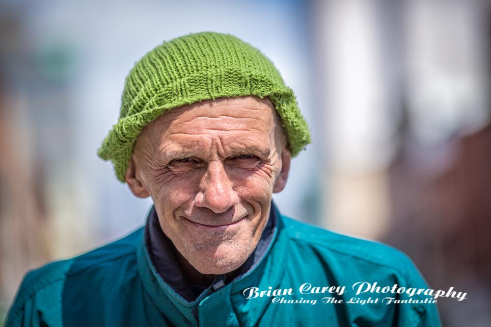 Street portrait by Brian Carey, St John's Newfoundland