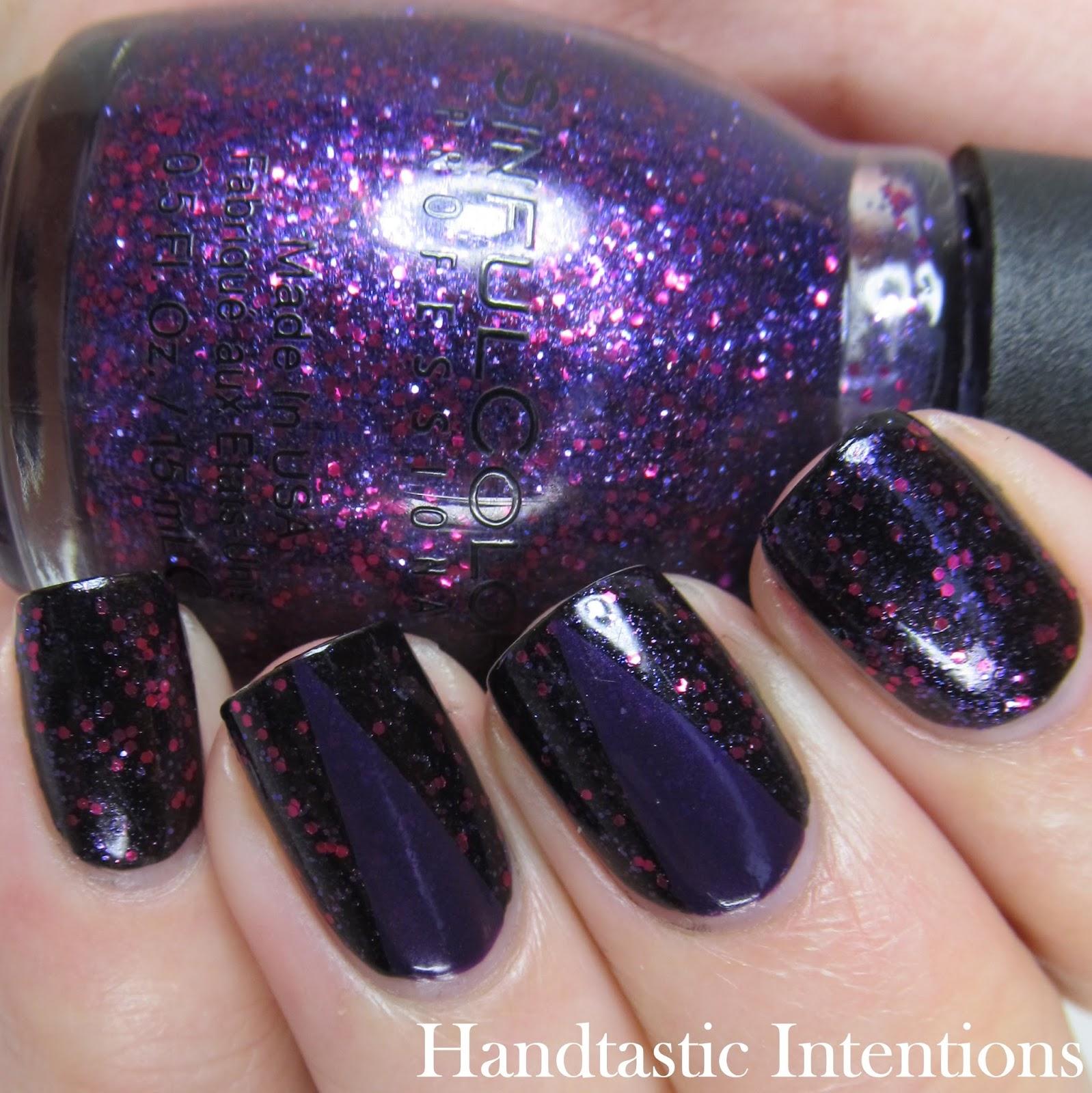 Purple Nail Art: Handtastic Intentions: Dark Purple Nail Art