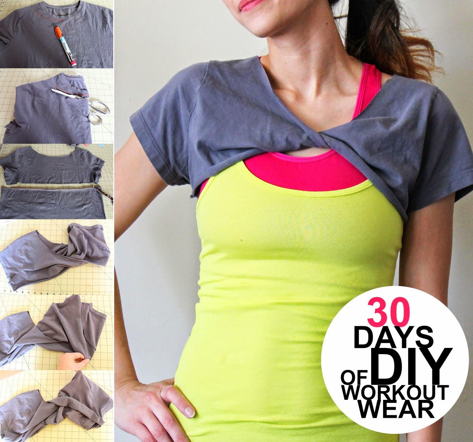 Grosgrain: 30 Days of DIY Workout Wear: Day 4