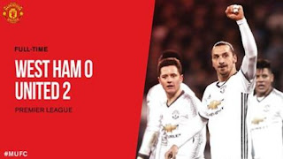 Video Cuplikan Gol West Ham vs Manchester United 0-2
