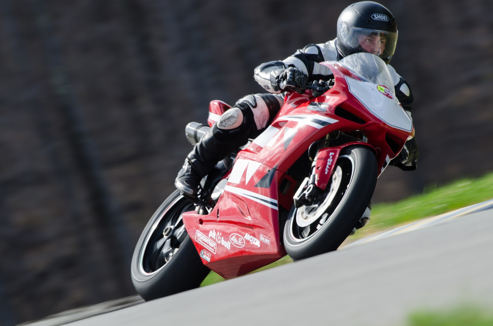 Tigh Loughhead of Gotham Ducati rides an 848 at New York Safety Track