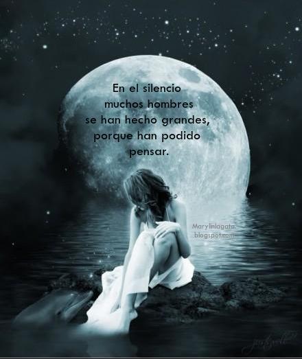 """Sí, necesitamos silencio en nuestras vidas para poder vivir a plenitud en nuestros corazones, para contemplar las maravillas que nos rodean, la belleza de un atardecer, de una noche de luna, o de un día soleado. La paz se pierde porque nos falta silencio y soledad para contemplar y meditar sobre la paciencia que han tenido algunos con nosotros. El silencio no es una amenaza a la soledad como algunos piensan, sino un excelente lugar de encuentro y conexión con lo más profundo de nuestro ser. Por falta de silencio se ahogan oportunidades maravillosas de amar, el ruido nos impide pensar, nos impide reflexionar. Necesitamos silencio porque la lengua es un arma muy peligrosa. En el sólo se escucha lo esencial. Con nuestro ruido robamos a otras personas la paz que podrían tener. En el silencio se han concebido las grandes obras artísticas, se han escrito los mejores poemas, la mejor música, las mas grandes reflexiones, los mejores descubrimientos científicos y hasta los mas apasionados versos. Frase:  """"En el silencio muchos hombres se han hecho grandes, porque han podido pensar."""""""