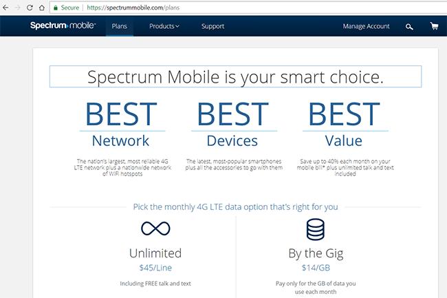 spectrum mobile network