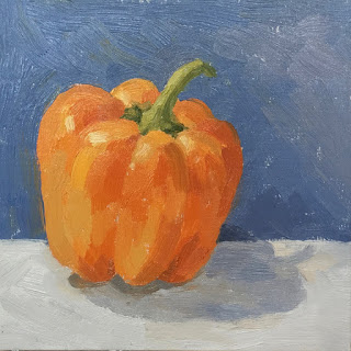 Daily Painting #17 'Orange Pepper' 8×8″