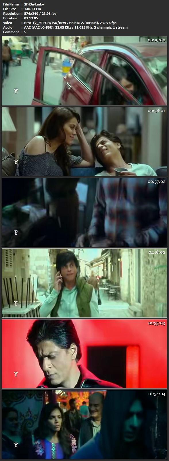 Fan (2016) 140MB Pdvd Hindi Movie – HEVC Mobile