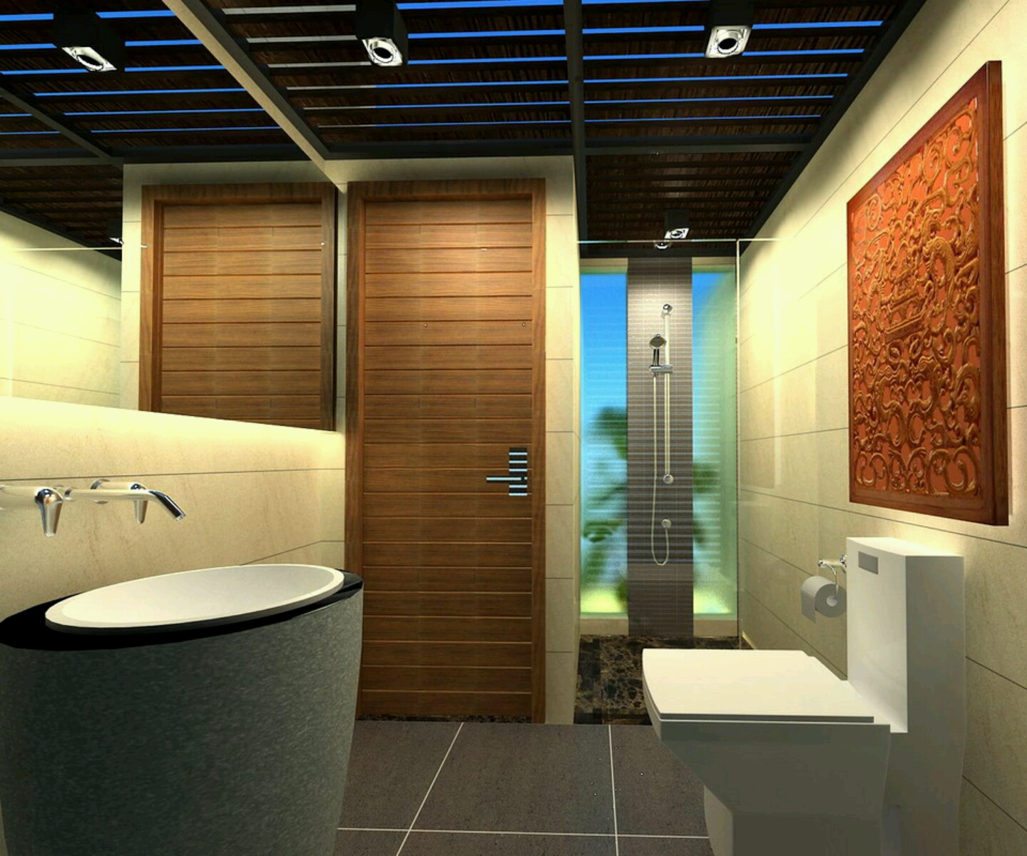 Home Design Ideas Bathroom: New Home Designs Latest.: Modern Homes Modern Bathrooms
