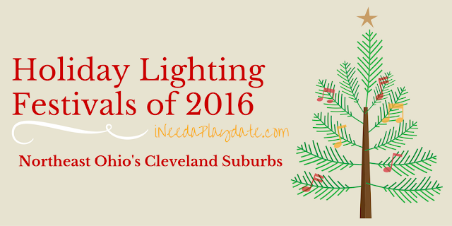 2016 Holiday Lighting Festivals in Northeast Ohio + Cleveland Suburbs