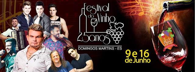 Ingressos para o Festival do Vinho de Domingos Martins estão à venda
