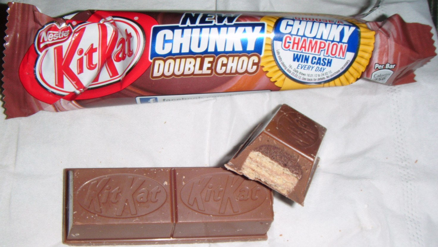 FOODSTUFF FINDS Kit Kat Chunky Double Choc By Cinabar