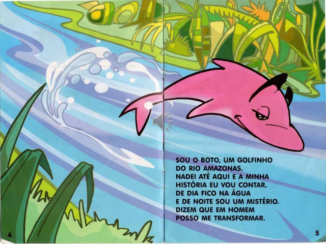 Lenda do Boto cor de Rosa Infantil
