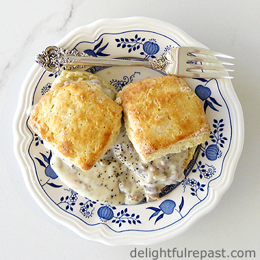 Biscuits and Gravy / www.delightfulrepast.com