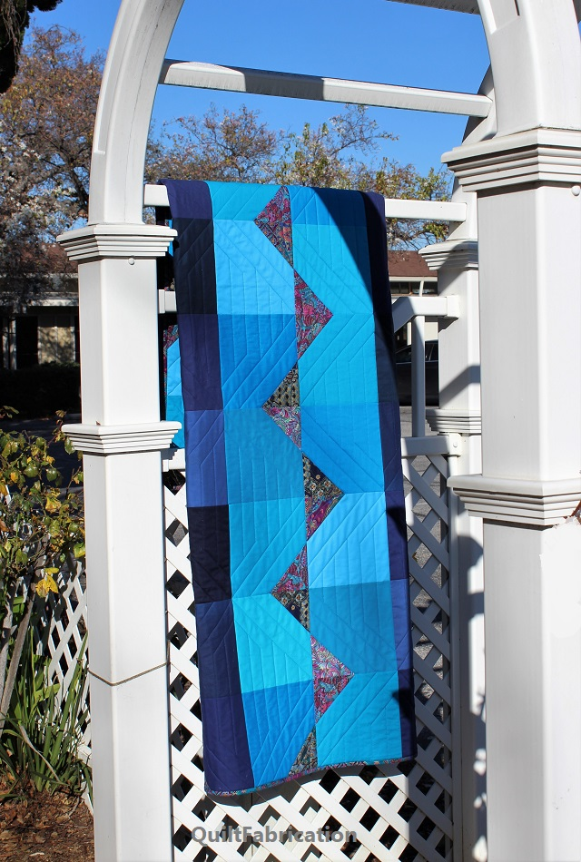 hanging Summer Ocean quilt