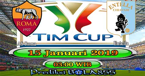 Prediksi Bola855 AS Roma vs Entella 15 Januari 2019