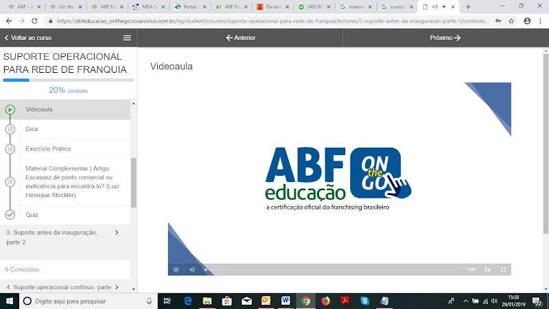 """ABF lança curso """"Suporte Operacional para Redes de Franquia"""" e incrementa sua oferta on-line"""
