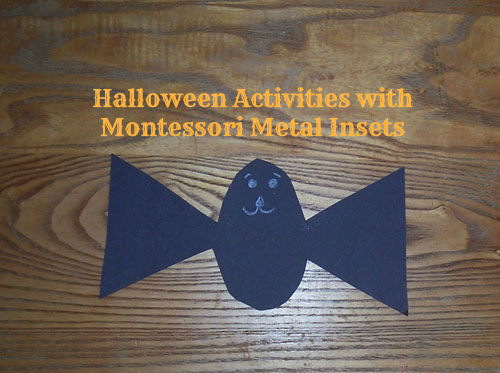 Halloween Activities with Montessori Metal Insets (Photo from My Confessions of a Montessori Mom Blog)