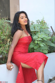 Mamatha sizzles in red Gown at Katrina Karina Madhyalo Kamal Haasan movie Launch event 020.JPG