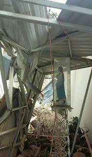 Resistió terremoto la Imagen de Virgen