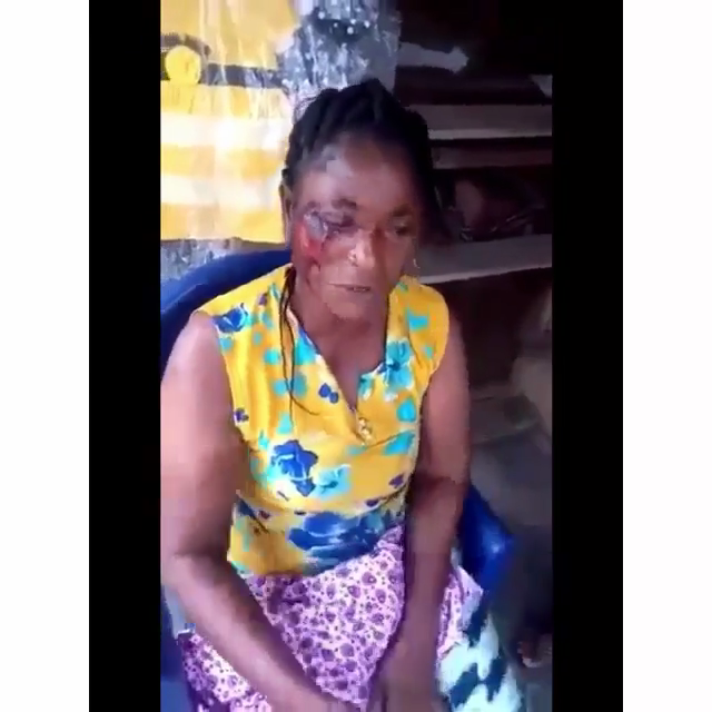 police beat woman in Ogun