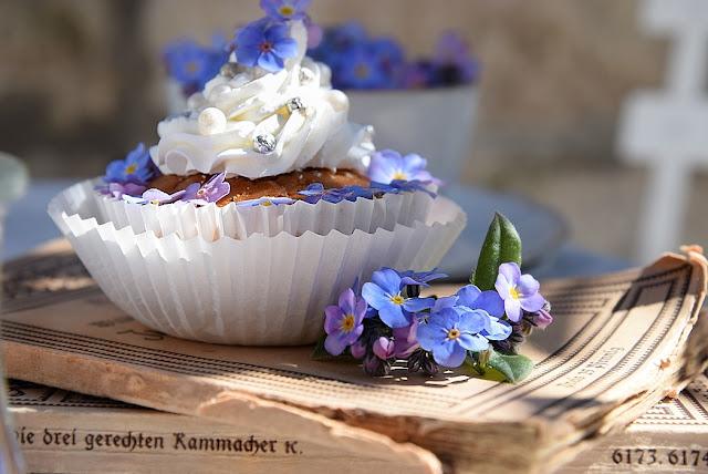 Blütendekoration für Cupcakes,