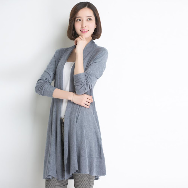 Cardigan Panjang Tipis Trend Wanita Korea 2016