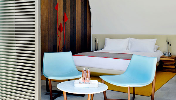 interiors by the city hotel sezz st tropez. Black Bedroom Furniture Sets. Home Design Ideas