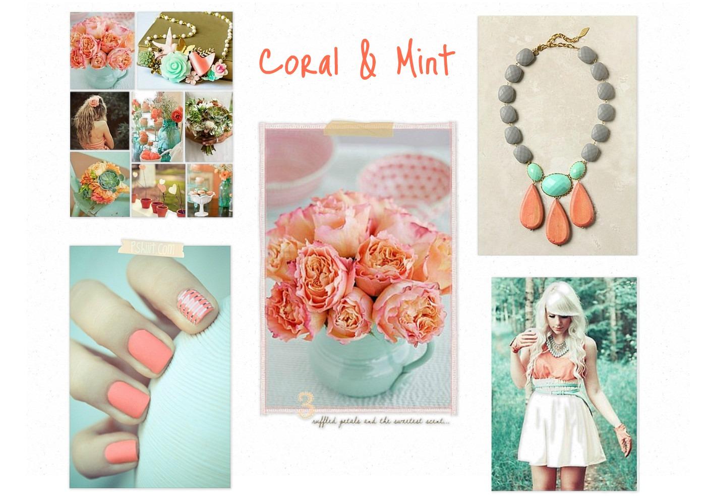 My Best Friend's Blog: Coral & Mint