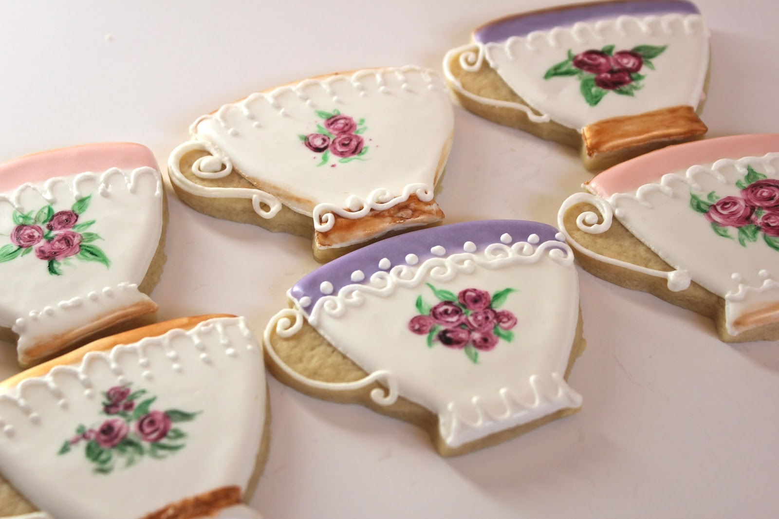 Sugar Beas Blog Tea Cup Cookies for a tea party