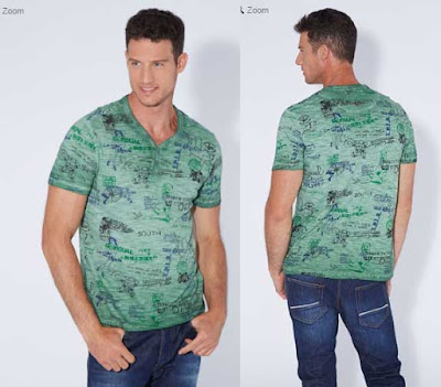 camiseta para hombre de color verde