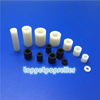 20/50/100Pcs M3 Screw Nylon Round Column Spacer Washer Not-Threaded