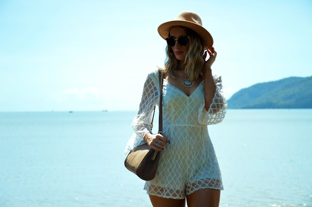 flare sleeve playsuit