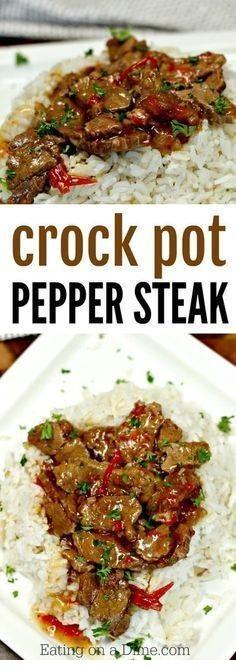 Crockpot Pepper Steak Recipe