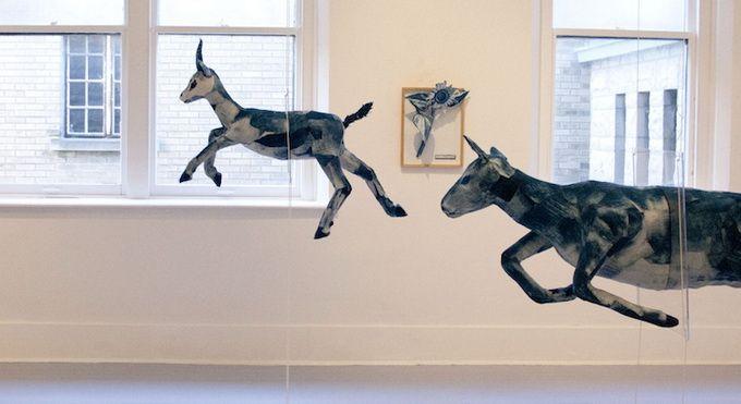 Interesantes esculturas en movimiento.