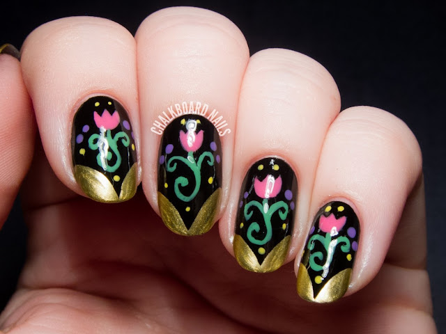 Latest Nail Art designs for New Year for 2016