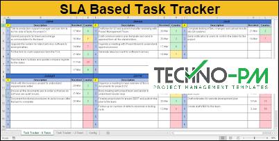 SLA Based Task Tracker Excel