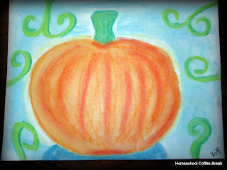 Autumn Art on the Virtual Refrigerator - an art link-up hosted by Homeschool Coffee Break @ kympossibleblog.blogspot.com