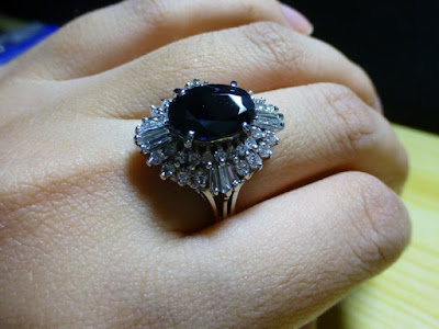 nhẫn sapphire đen