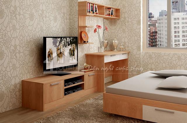 Kệ tivi phòng ngủ đơn giản tiện nghi