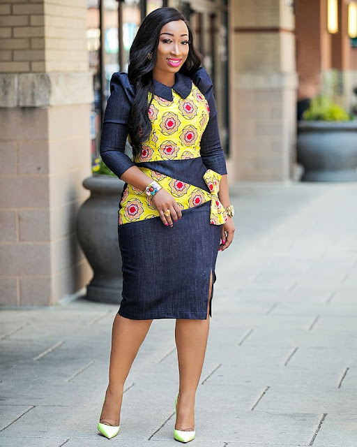 Latest Ankara Office Wear Designs And Styles Of 2018, ankara office wear designs, ankara office wear styles, corporate ankara gowns, latest ankara office wear, ankara corporate wears, ankara skirts and blouses for office, ankara corporate tops, ankara work dresses, african official wear