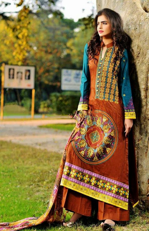 Parisha Dresses Rujhan Fabric 2014 plazo with typical dastkari