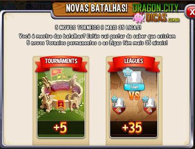 Novos Torneios e Novas Ligas no Estádio!