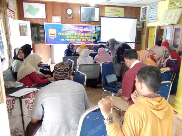 Desa Koto Marapak Gelar Pelatihan Komputer bagi Perangkat Desa