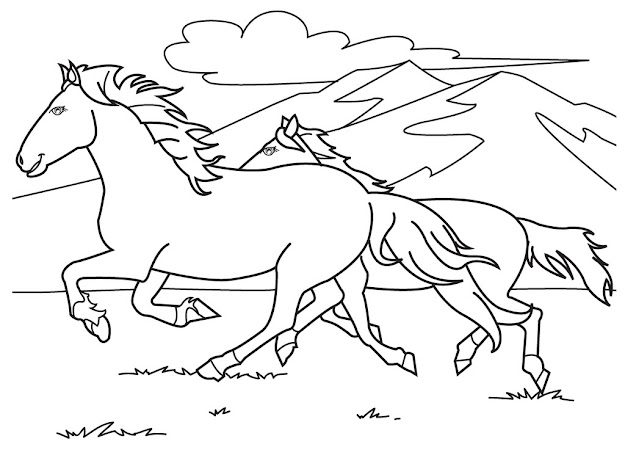 Race Horse Coloring Pages